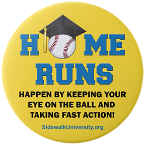 Sidewalk University Day-at-the-Stadium Button